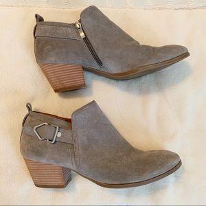 Franco Sarto Shoes - Franco Sarto Grey Suede Leather Garfield Bootie!